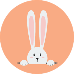 White Easter Rabbit Sticker