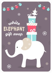 White Elephant Gift Sticker