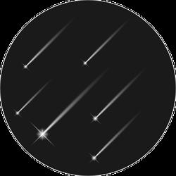 White Falling Stars Sticker