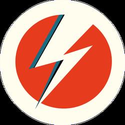 White Flash Lightning Sticker
