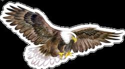 White Head Eagle In Sky Sticker