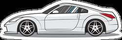 White Japanese JDM Sports Car Sticker