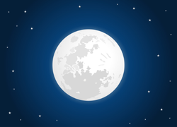 White Moon With Starry Sky Sticker