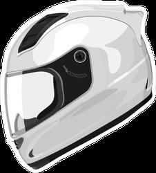White Motorcycle Helmet Sticker