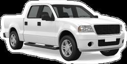 White Pickup Truck Sticker
