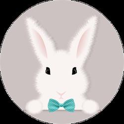 White Rabbit With Gradient Mesh Sticker