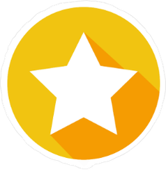White Star and Shadow Icon Sticker