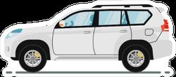 White SUV Car Sticker