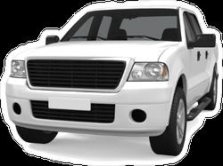 White Truck Sticker