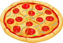 Whole Pepperoni Pizza Sticker