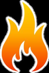 Wide Fire Icon Sticker