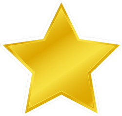 Wide Golden Star Sticker