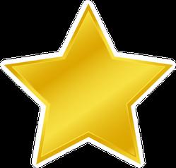 Wide Golden Star Sticker