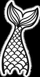 Wide Mermaid Tail Sticker