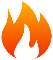 Wide Single Flame Sticker