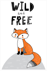Wild And Free Fox Doodle Sticker