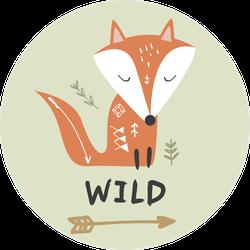 Wild Baby Fox Sticker