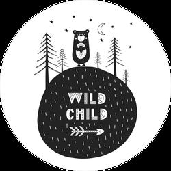 Wild Child Bear Scandinavian Style Sticker