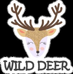 Wild Deer Bohemian Sticker