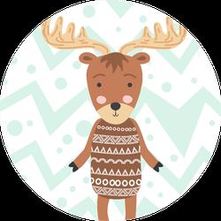 Wild Moose Illustration Sticker