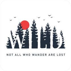 Wild - Not All Who Wander Are Lost Sticker