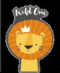 Wild One Lion Sticker