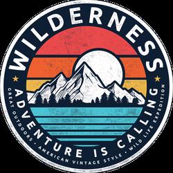 Wilderness Mountain Illustration Sticker