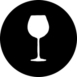 Wine Glass Silhouette Sticker