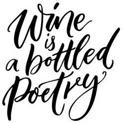 Wine Is Bottled Poetry Calligraphy Sticker