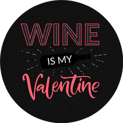 Wine Is My Valentine Funny Sticker