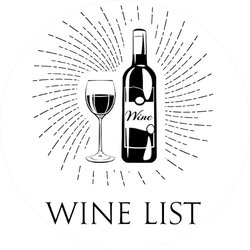 Wine List Bottle And Glass Sticker