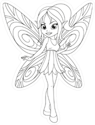 Winged Fairy Illustration Sticker