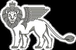 Winged Lion Sticker