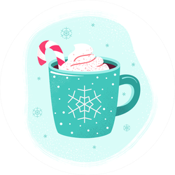 Winter Cup Of Hot Chocolate Sticker