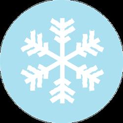 Winter Icon Snowflake Sign In Blue Sticker
