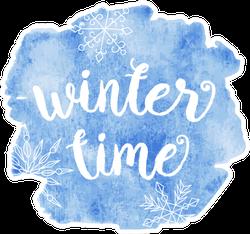 Winter Time Snowflake Sticker
