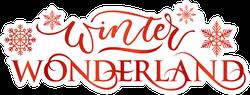Winter Wonderland Lettering Sticker