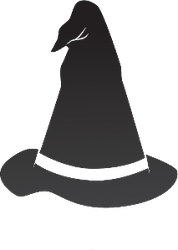 Wizard Hat Icon Sticker