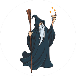 Wizard In Black Cloak Sticker