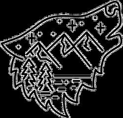 Wolf and Scenery Sticker