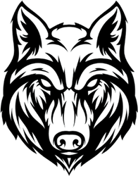 Wolf Head Angry Face Sticker