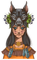 Wolf Headdress Sticker
