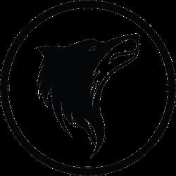 Wolf Silhouette Logo Sticker