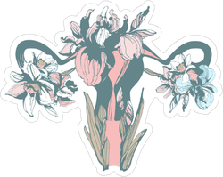 Woman Blooming Sticker