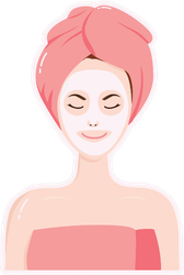 Woman With Beauty Mask Sticker