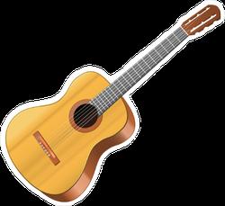 Wooden Acoustic Guitar Sticker