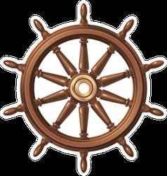 Wooden Boat Steering Wheel Sticker