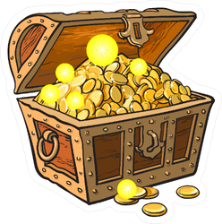 Wooden Chest Pirate Sticker