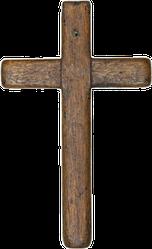 Wooden Cross Sticker