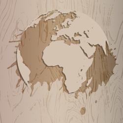 Wooden Earth Sticker